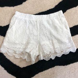 Ella Moss White eyelet shorts